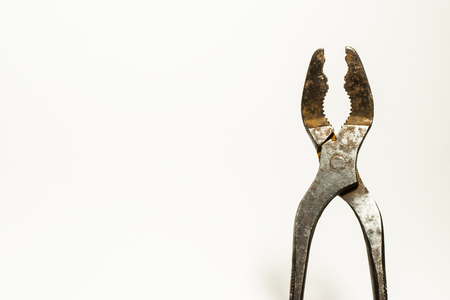 Old combination pliers detail shot