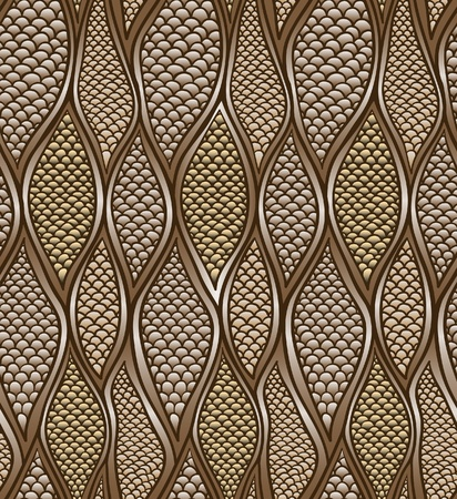 brown snail skin. seamless pattern. vector.