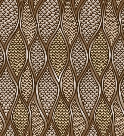 bruine slak de huid. naadloos patroon. vector. Stock Illustratie