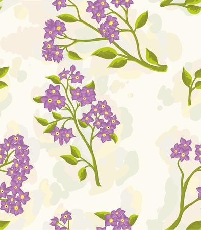 손으로 그린 꽃으로 배경 화면을 반복합니다. 일러스트