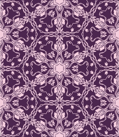 patchwork: Hand drawn repeating wallpaper.