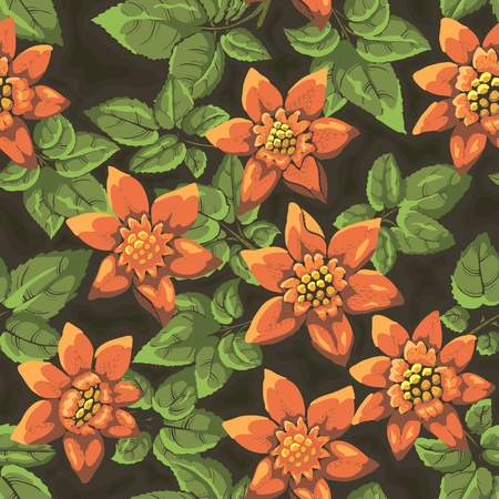 textile image: Floral seamless pattern. Hand drawn flowers. Bright colors. Perfect for wrapping paper, wallpaper,textile Illustration