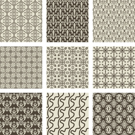set of 9 seamless patterns. Stock Vector - 11004065
