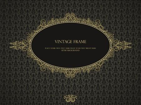 Cadre de luxe dans un style rétro à motif damassé transparente Banque d'images - 11073733