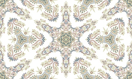 baroque: Ethnic repeating ornament. Hand drawn.