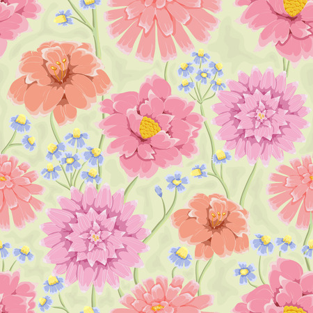 Floral seamless pattern hand drawn flowers bright colors perfect hand drawn flowers bright colors perfect for wrapping paper mightylinksfo