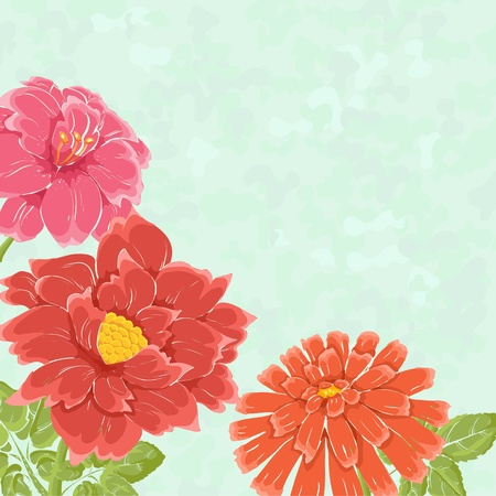 Stylish background with hand drawn flowers and place for text. Could be used as wedding invitation or valentine