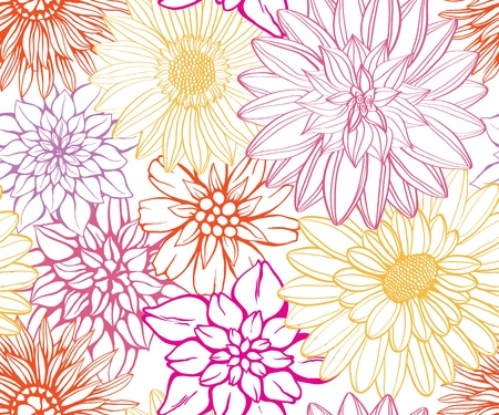 spring: Floral pattern. Could be used as seamless wallpaper, wrapping paper, background, etc