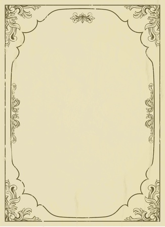 Vintage frame on grunge background