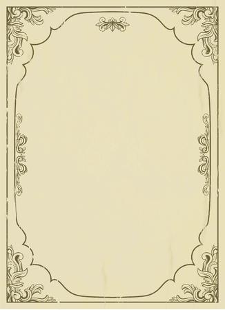 frame: Vintage frame on grunge background