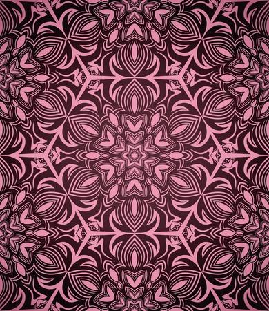 暗い背景に抽象的なシームレスなピンク パターン