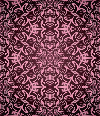 Abstract seamless pink pattern on dark background Illustration