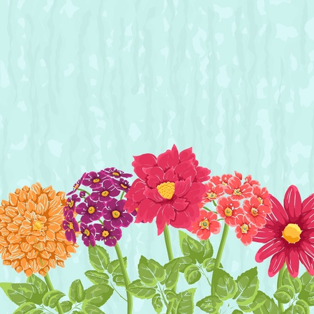 Stylish background with hand drawn flowers and place for text. Could be used as wedding invitation or valentine Vector
