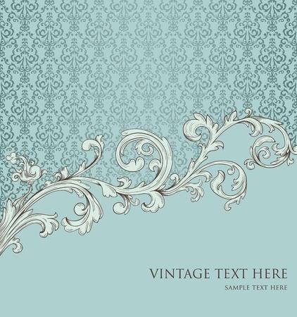 花の要素とレトロなスタイルの背景 写真素材 - 11258618