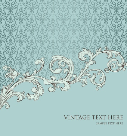Background in retro style with floral element Vector