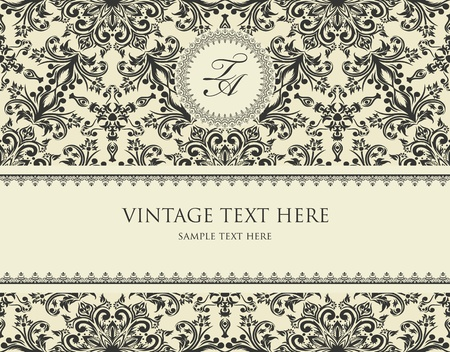 Great vintage frame on seamless abstract background