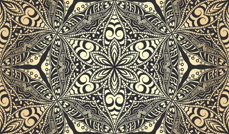 victorian wallpaper: Abstract seamless wallpaper with hand drawn elements.