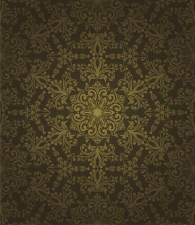antiek behang: Abstract naadloos behang met de hand getekende elementen.