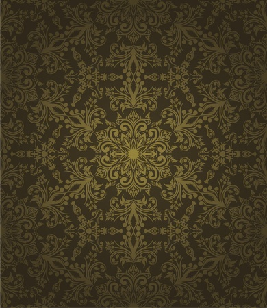 arabesque: Abstract Wallpaper senza soluzione di continuit� con elementi disegnati a mano. Vettoriali