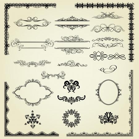 多くのデザイン要素: ラベル、罫線、フレーム、等。