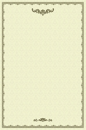diploma: Vintage marco o un diploma en el fondo del damasco.