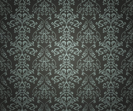 Seamless pattern with floral element in retro style
