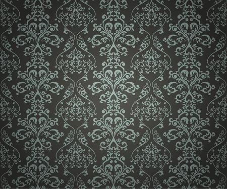 Naadloos patroon met florale element in retro-stijl
