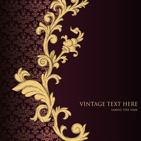 motif cachemire: R�sum� de fond de cru avec l'�l�ment r�tro floral Illustration