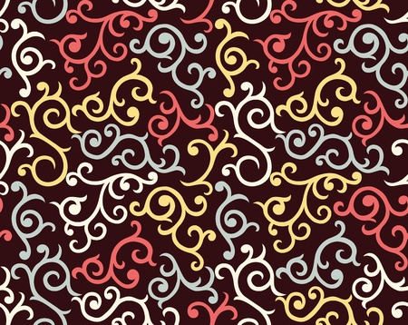 Abstract seamless wallpaper with hand drawn elements.