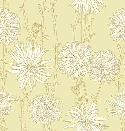 Floral seamless pattern with hand drawn flowers Stock Vector - 11500288