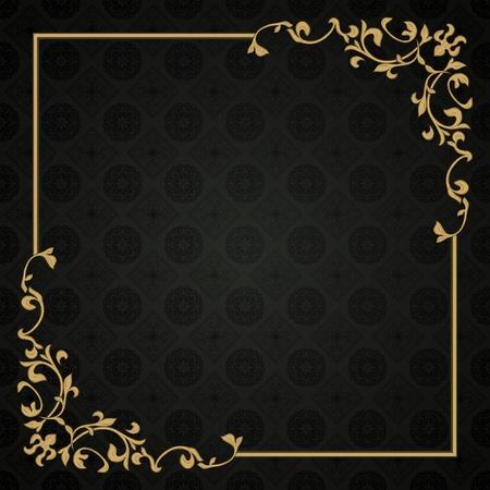 tarjeta de invitacion: Estructura de estilo retro en el fondo sin fisuras