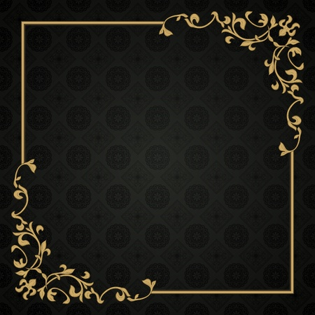 invitation background: Frame in retro style on seamless background