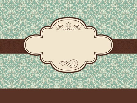 romance: Vintage frame on seamless background. Could be used as invitation