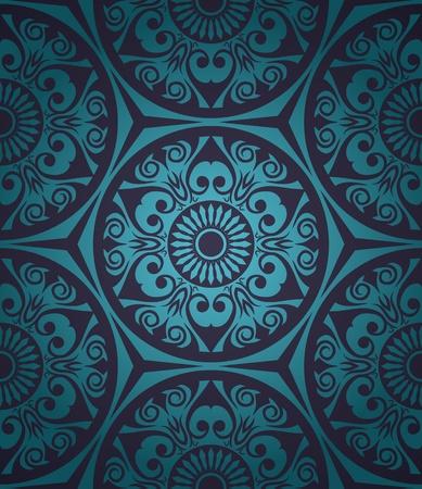 복고 스타일의 그라데이션 배경 추상 원활한 패턴