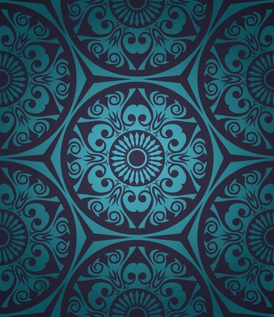 victorian wallpaper: Abstract seamless pattern with gradient background in retro style