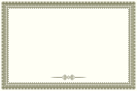 Vintage frame ib retro style. COuld be used as certificate or diploma Vector