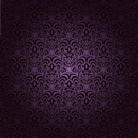 어두워: 그라데이션 배경 요소의 많은 원활한 패턴 다마 스크