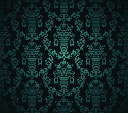 Seamless pattern con elemento floreale in stile retrò Vettoriali