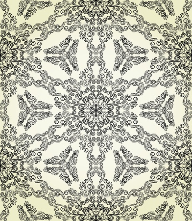 Seamless pattern in retro style. Stylized lace. Vettoriali