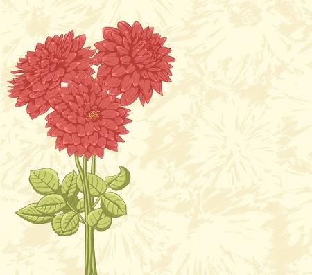 Bloemen achtergrond met hand getrokken bloemen. Prachtige kleuren.