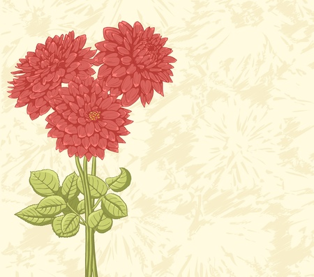 celebration background: Floral background with hand drawn flowers. Lovely colors. Illustration