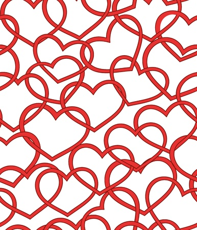 Nice seamless pattern with lot of hearts Illustration