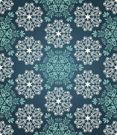 Stylish Christmas seamless pattern with stylized snowflakes Vector