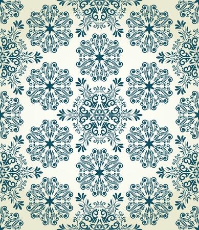 Kerst naadloze patroon met gestileerde sneeuwvlokken