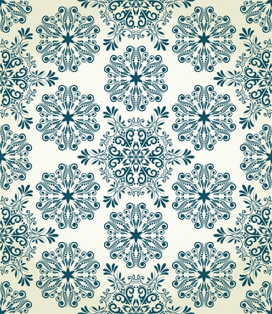 Christmas seamless pattern with stylized snowflakes Illustration