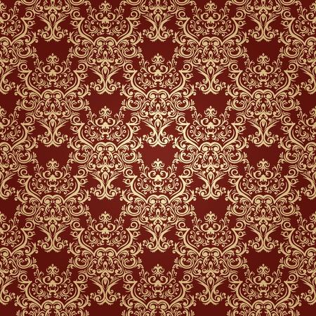 Damask seamless pattern in retro style. VIntage design