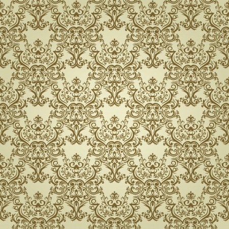 Vintage seamless background with floral elements in light colors Vettoriali