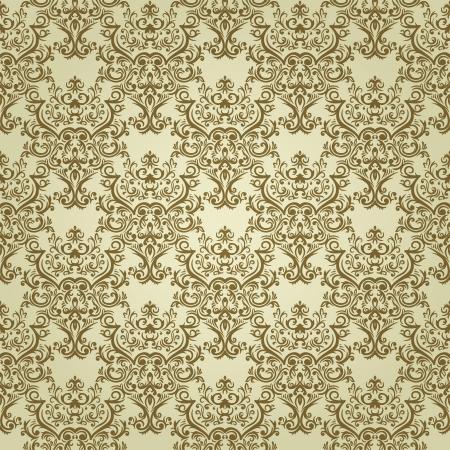 tilable: Vintage sfondo senza soluzione di continuit� con elementi floreali in colori chiari Vettoriali