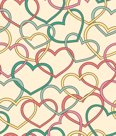 Nice seamless pattern with lot of hearts Vector