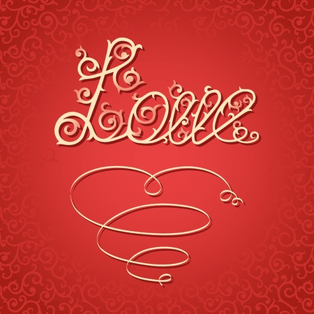 Romantic background for Valentine Vector